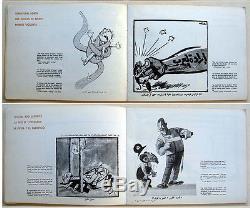 1967 NAZI Arab MUSLIM Antisemite RARE CARICATURE BOOK Jewish ISRAEL Judaica IDF