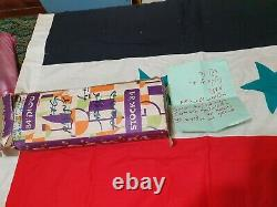 1967 war egyptian flag taken by idf still in box with letter in hebrew 100X60cm