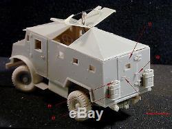 1/35 scale CMP-IDF 1947 armored car kit en resine tres detalie, beucoup pieces