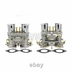 2Pcs Carburetor Set 40IDF With Air Horn Fits Volkswagen Bug Beetle Fiat Porsche