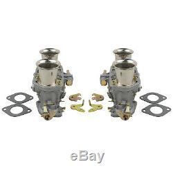 2x Carb Carburettor 2 Barrel for VW Bug Beetle Fiat Porsche 912 356 + Air Horn