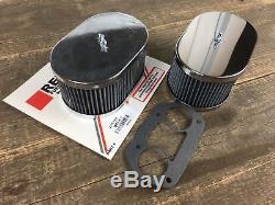 2x Sportluftfilter / Luftfilter für Weber Vergaser IDF 36, 40, 44, 48 Höhe 85mm
