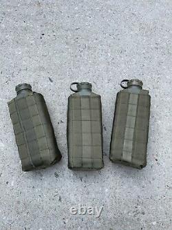 (3) Israel Army Kippur War 1973 Hovesh Sanitarian Water Canteen Idf Zahal Flask