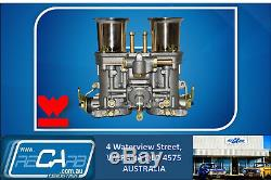 4 Barrel Holley Adaptor with Twin 44 IDF Weber Carburettors Kit