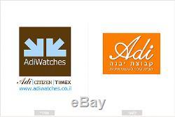 Adi Israeli Alphabet Judaica Retro Watch (21-0265-181) Water Resistant 3ATM