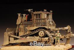 Award Winner Built Meng 1/35 IDF D9R Armoured Bulldozer Diorama +PE +Figure