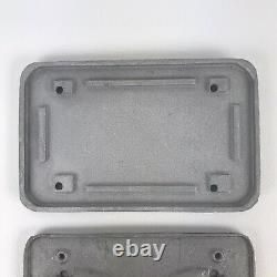BUGPACK Rare Cast Aluminum Ribbed Air Cleaner Valve Covers Weber IDF Plate VW
