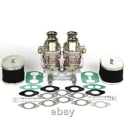 Carburettor Carb Kit 4 Barrel Holley Adaptor with Twin 48 IDF For WEBER EMPI
