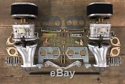 Doppelvergaseranlage 40 IDF FAJS Weber Vergaser VW Käfer Bus Porsche Tuning Typ1