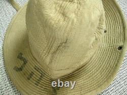 French Army Bush Hat 1950's Indochina Algeria w IDF Israel markings