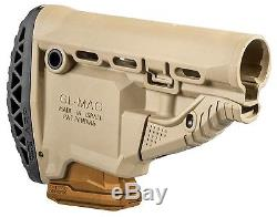 GLMAG-S ARP FAB Defense Desert Tan Butt Stock with MagazineCarrier IDF
