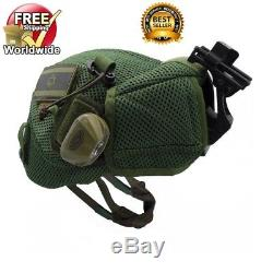 HASSA PLUS Israel Army IDF Tactical Como Helmet + Built-In Goggles Cover Green