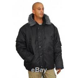 Hagor Extreme Cold Weather Parka Alpinist Black IDF Officer Warm Coat