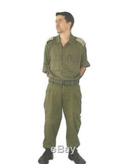 IDF Israeli Army Military 100% Cotton Fatigue Bet Combat Uniform Set With Belt