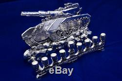 IDF Tank 925 Silver Handmade Menorah Hanukkah Chanukah Judaica Jewish Israel
