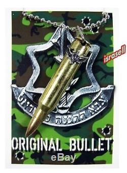 ISRAELI ARMY COMMANDO BULLET NECKLACE IDF ZAHAL Defense Force