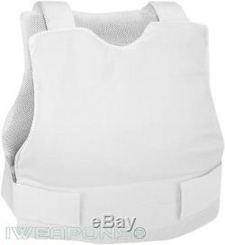 IWEAPONS IDF Concealable Bulletproof VEST Body Armor NIJ IIIA/3A White XXXL
