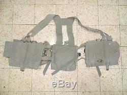 Idf Old Ephod Vest Web Zahal Israeli Army 80's MADE IN ISRAEL.'Rabintex' Pouch
