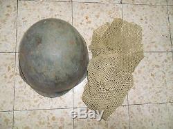 Idf Zahal Arab Israel 1967 Six Day War Helmet Para WITH NET and Polish WZ-50