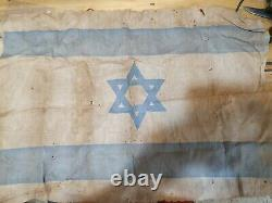Idf israel 40-50s israeli flag very old look condition