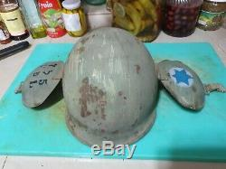 Idf israel mk-5 extremly rare anti flak helmet no liner WOW
