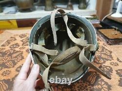 Idf israel rare yom kippur war helmet dated 1970 liner damaged WOW