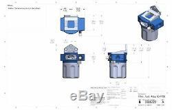 Injector Dynamics ID-F750 Universal Fuel Filter blue / grey finish