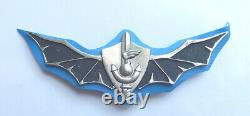 Israel Army Navy Seals Shayetet 13 Badge First Type Idf Numbered #456 1960's