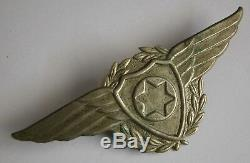 Israel IDF Scarce Early Air-Force Pilot Wings Pin