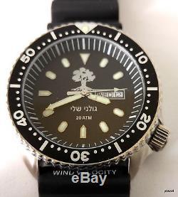 Israel golani IDF army diving wrist watch combat water resistant date men gift