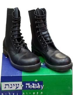 Israeli Army Military IDF / IAF / Navy Combat Leather Light Black Boots