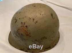 Israeli Defense Force Helmet ww2 us steel pot converted by Israel defense forces