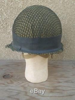Israeli IDF M-1 Paratrooper Commando Helmet Complete Golani Yom Kippur 6 Day war
