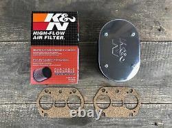 K&N Komplettset 2x Luftfilter + Reiniger + Spezialöl WEBER 40 44 48 IDF 64 mm VW