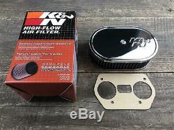 K&N Luftfilterkasten Luftfilter 40,44,48 IDF 45mm 56-1160 kompatibel mit Weber