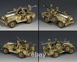 King & Country Israeli Defense Force Idf017 Israeli M38 Jeep 106mm Recoiless Mib