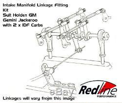 Linkage Kit fits Holden Gemini Jackaroo Intake Manifold 1600-2000 2 X IDF Weber