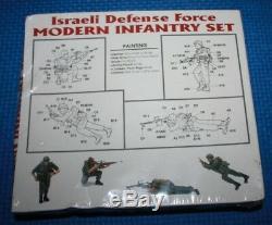 Lot of 4 1/35 Israeli Defense Force MODERN INFANTRY SET ACADEMY 1368 Sealed