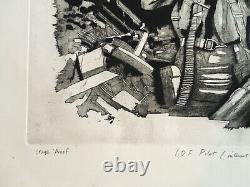 MICHAEL SANDLE R. A. (b1936) Proof Signed ETCHING Israeli Defence Force Pilot
