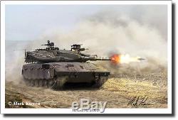 Merkava Mk III BAZ by Mark Karvon Military Art Israeli Defense Force Decor