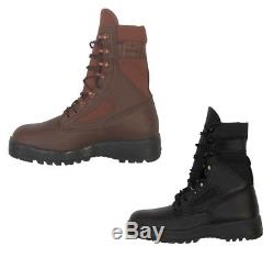 NEW IDF Israeli Army Commando Tactical Hiking Boot, Black or Brown/Red Euro Sizes