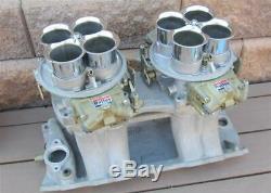 NOS Holley Dominator Carburetor Chrome Velocity Stacks 3 Inch 85R-3974 Orig Box