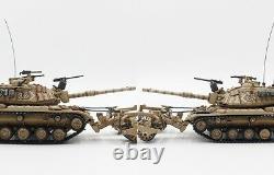 New 172 Israel IDF M60A1 Blazer Tank With KMT-4 Mine Roller Mid-East Wars Model