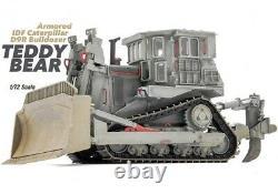 New 172 Scale Israel Armored IDF Caterpillar D9R Bulldozer Grey Plastic Model