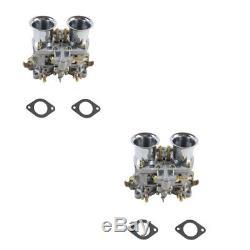 New 2 Set 48 IDF Carburetor Carb for Solex Dellorto Weber EMPI 48MM w Air Horns