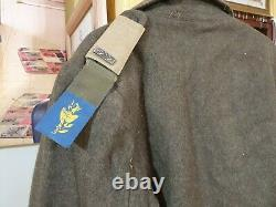 Old 1949-1950 idf early winter coat officer kiryati brigade wow wow wow