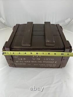 Original IDF 9mm Zahal Wooden Ammunition Ammo Box Crate Israeli Army Military