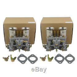 Paar Doppelvergaser Kit 40IDF Für VW Käfer Bug Beetle Fiat Porsche 912 356 Coupe