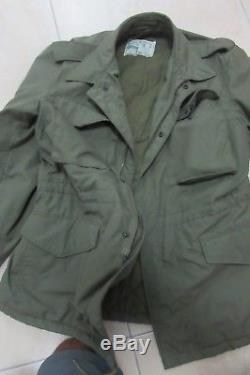 RARE ORIGINA1969 Army Idf Zahal Field M-65 M65 Jacket Coat MADE IN ISRAEL size M