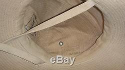 Rare Vtg 1956 Idf Zahal Soldier Khaki Hat Stetson French Made Duvoir Le Mans